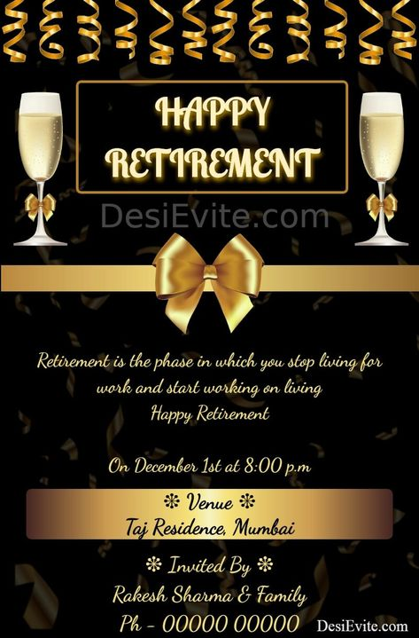 Retirement Party Invitation eCard