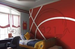 Www. Round321.com Basketball Wall Decal- Home- Sports Room - Children's Room - Infant Room Decal