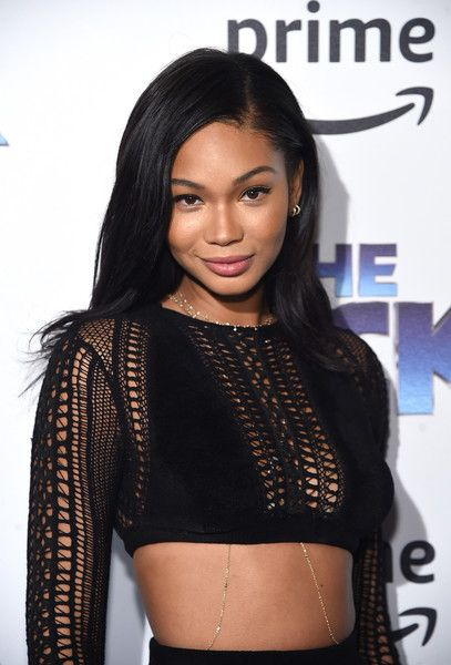 Chanel Iman attends 'The Tick' Blue Carpet Premiere.