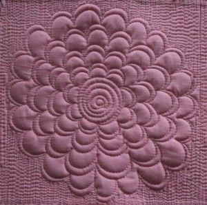 flower quilting motif - Angela Walters