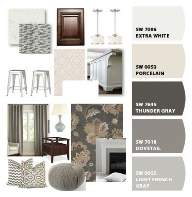SW Porcelain SW Thunder Gray SW Dovetail SW Light French Gray