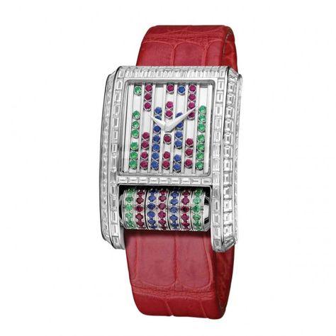Mutli-coloured gemstone and diamond