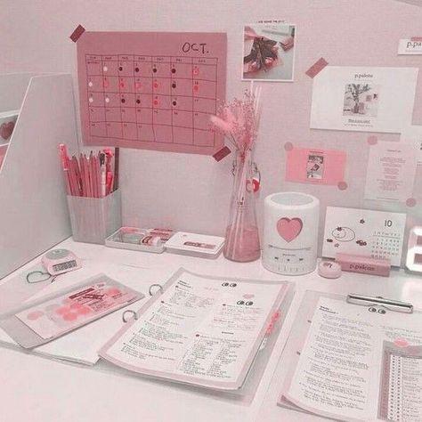 🍓≡❁Ꮲiꪀᚕꫀrꫀડɬ: ᮂᚕᥔ꧘ᥔ ⭎ ࿚ ꪀ๏↯ ꪙડⅇ/ ᰛᥱp๏ડ↯ ꪡⅈt๏ꪙ↯ ᥫᰛⅇdⅈ↯; ᝢ ៹ Soft Study Room Decor, Room Ideas Bedroom, Bedroom Decor, Study Rooms, Study Areas, Cute Room Decor, Aesthetic Room Decor, Pink Aesthetic, Decor Room