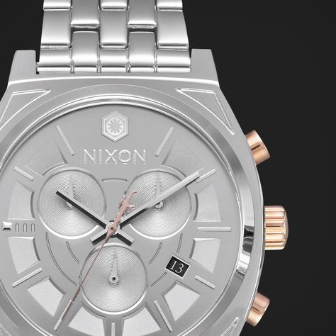 The Captain Phasma Time Teller Chrono. Inspired by the veteran stormtrooper commander's polished armor. A sleek silver case with the comfort you've come to know with every Time Teller model. http://nxon.co/2cJwRre