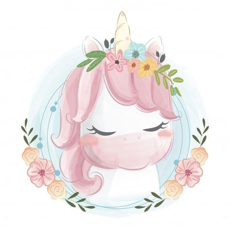 Cute unicorn portrait