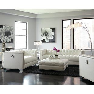 Modern White Living Room Furniture Sets White Living Room Sets You 039 Ll Love Wayfair Living Room Sets White Living Room Set White Furniture Living Room