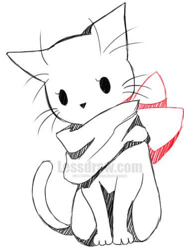 Pin By Jeng On Drawing Anime Drawings Sketches Kitty Drawing Anime Character Drawing