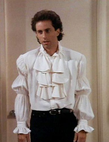 Seinfeld, puffy pirate shirt! But I don't want to be a pirate!!