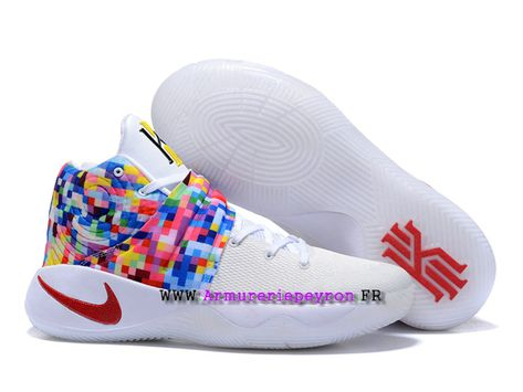 best website 435dd ff07e Nike Kyrie 2 ID Chaussures Nike Basket Pour Homme Couleur blanche   rouge  820537 A007