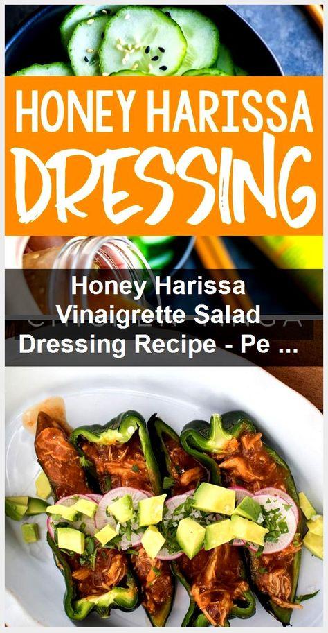 Honey Harissa Vinaigrette Salad Dressing Recipe - Peas and Crayons,  #Crayons #Dressing #Harissa #Honey #Peas #Recipe #Salad #Vinaigrette