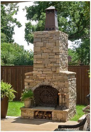 Masonry Outdoor Wood Burning Fireplace