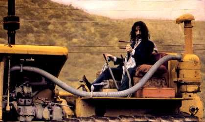 .frank zappa at home in the