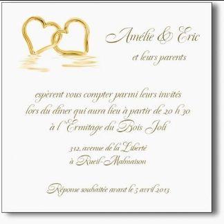 carte d invitation mariage modele