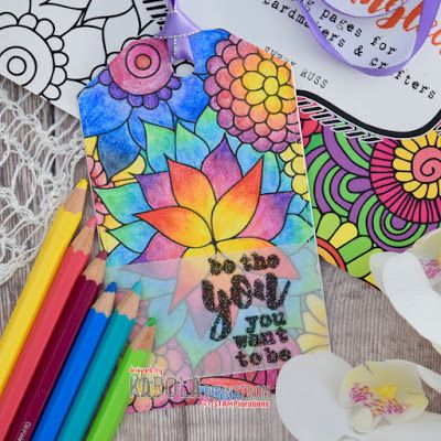 Special Post Celebrating National Coloring Book Day All Month Tag By Karola Coloring Books Fusion Card Linky Party