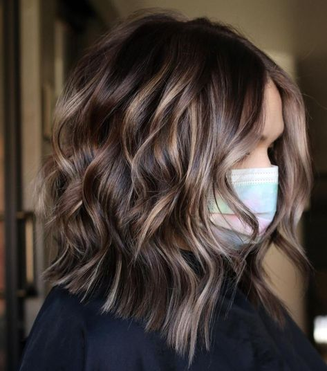 Dark-Colored Hair with Highlights