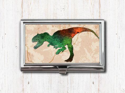 T Rex Dinosaur Business Card Case
