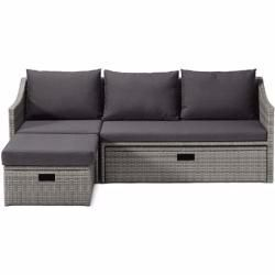Garten Ausziehsofa Polyrattan Tchibotchibo In 2020 Outdoor Wicker Furniture Rattan Armchair Outdoor Couch