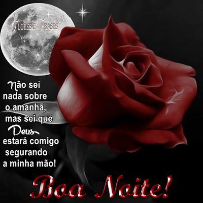 mensagem de boa noite com flores de benção