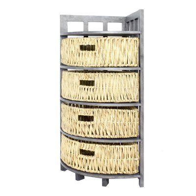 Highland Dunes Anastasia Corner 4 Drawer Accent Chest In 2020 Accent Chest Corner Storage Storage Cabinet With Baskets