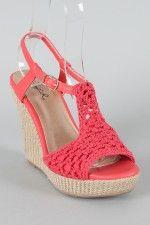 Crochet shoes love the color