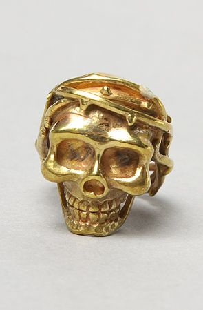 The Skull Ring in Brass by Monserat De Lucca Jewelry