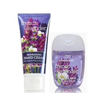 Bath And Body Works French Lavender Nourishing Hand Cream 2 Oz And