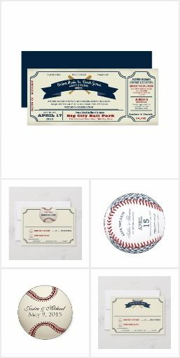Baseball Wedding Vintage Ball Park Ticket Couples Who Share A Love Of Baseball And Want To Ex Baseball Wedding Baseball Wedding Program Fun Wedding Invitations