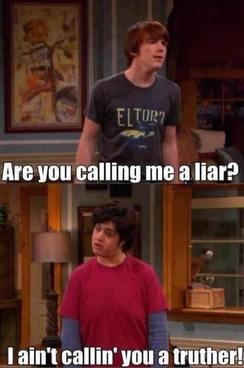 """The opposite of a liar:   The 28 Most Important Lessons We Learned From """"Drake And Josh"""""""