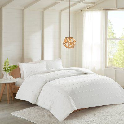 Woven Dot 3 Piece Comforter Set By Better Homes And Gardens White
