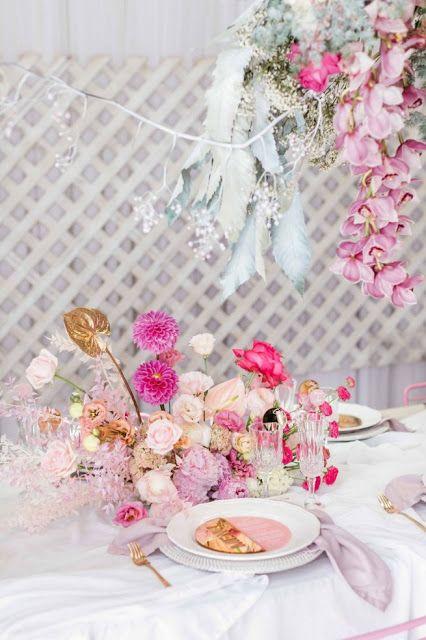 The Academy Bridal Inspiration Floral Wedding Bridal Chair