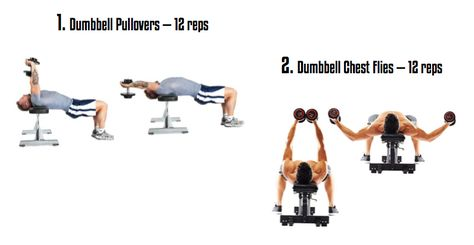 Superset pullovers and flies to burnout your chest and build ...