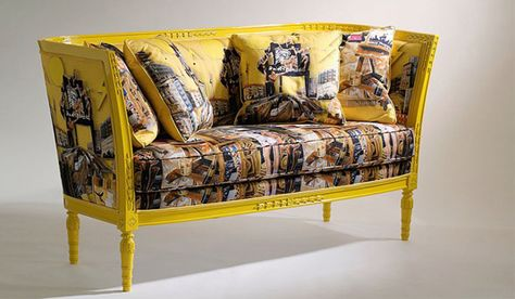 Versace Home Sofas Lacquered Wood Frame With Handicarvings - Creative and soft sofa for real fashionistas by versace