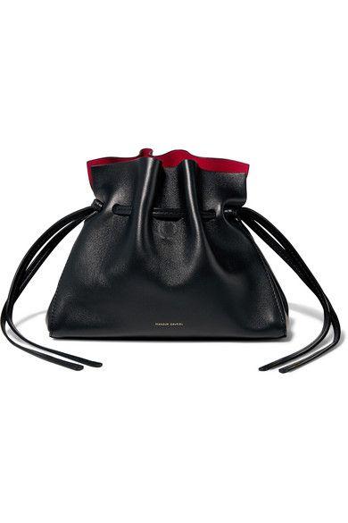 Black Protea mini leather shoulder bag | Mansur Gavriel