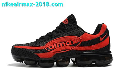57760eb0ed Nike Air Vapormax 95 KPU Mens Sport Shoes For Sale Black Red | Nike ...