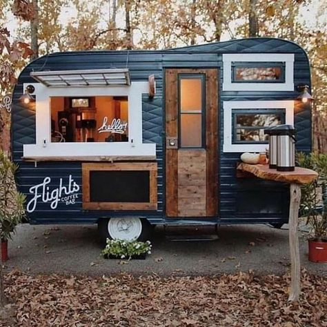 Food Cart Design, Food Truck Design, Coffee Shop Design, Cafe Design, Design Design, Coffee Food Truck, Mobile Coffee Shop, Coffee Trailer, Mobile Cafe