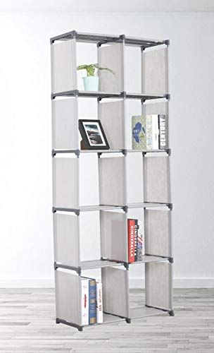 Ehomeproducts Grey Storage Cube Closet Organizer Shelf 10 Cube Cabinet Bookcase By Cubes Closet Closet Shelf Organization Cube Storage