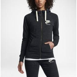 Nike Sportswear Gym Vintage Women S Full Zip Hoodie Black Nike Black Full Gym In 2020 Vintage Hoodies Nike Sportswear Tracksuit Women