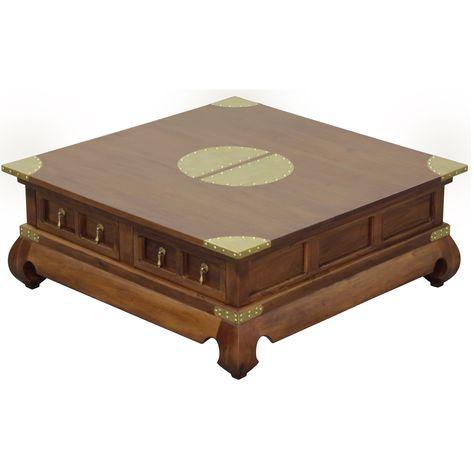 Handmade Nes Fine Furniture Solid Mahogany Wood Ming Coffee Table