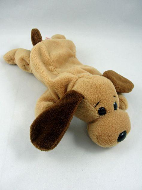 0e300930022 Ty Beanie Babies BONES Bassett Houng Dog Tan Plush Retired 1993  Ty ...