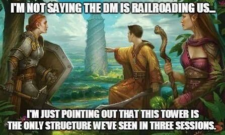 Image result for d&d railroading
