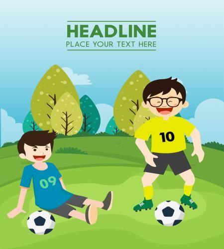 تصميم اطفال يلعبون كرة القدم تصميم رياضي تحميل مباشر Vector Free Graphic Design Logo Boys Playing