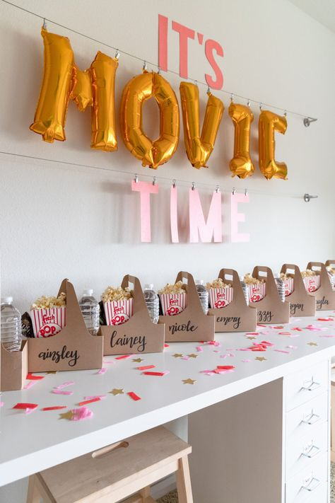 movie themed birthday party snacks, pre-teen movie party ideas