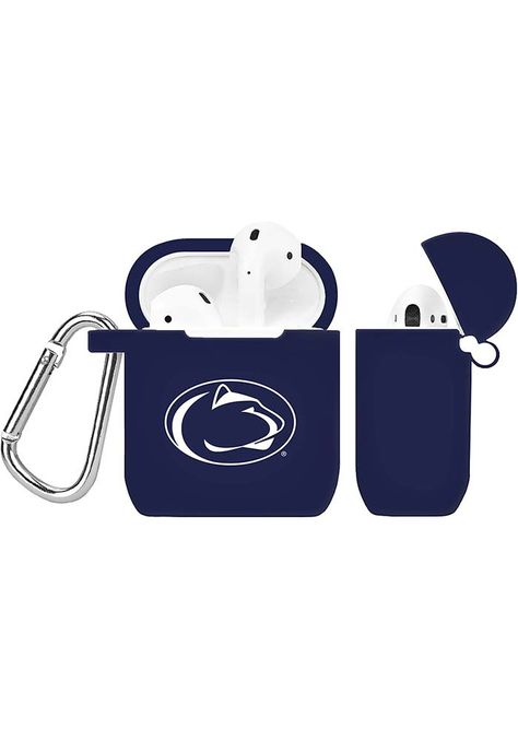 Penn State Nittany Lions Silicone AirPod Keychain, Navy Blue, SILICONE