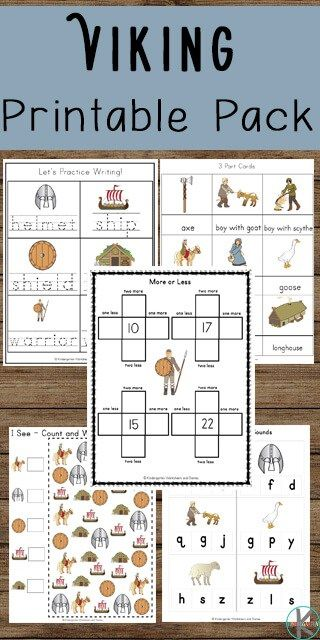Free Viking Worksheets Kids Will Have Fun Learning About Vikings While Practicing Math And Literacy Skills Perfec Vikings For Kids Fun Learning Home Learning