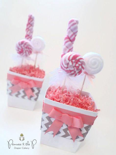 Choose your color Grey Chevron Sweet Treats by PrincessAndThePbaby, $19.95 #diapercake #washclothcreation #princessandthepbaby #party #favors #kids #topsyturvy #lollipop #sweettreats #flower #pregnancy #babygirl #babyboy #purple #etsy #kidsbirthday #handmade #babyshowerideas #centerpiece #bling #butterfly #daisy #pinkandgrey #chevron #cake #cupcake