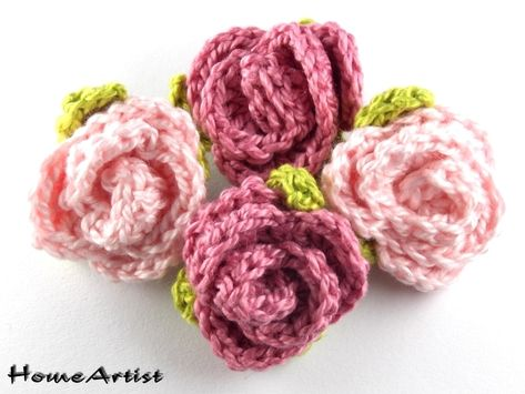 Crochet Häkeln 3d Rose 4 Aus 96 Freie Farbwahl Von Home Artist Auf