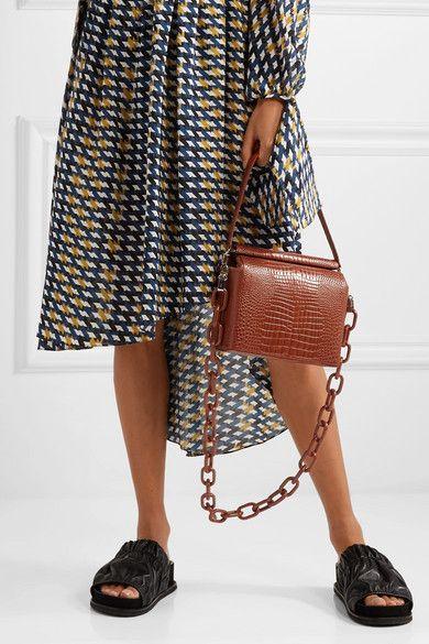 8491b60a294 Gu_de - Duet croc-effect leather shoulder bag in 2019 | Fashion ...