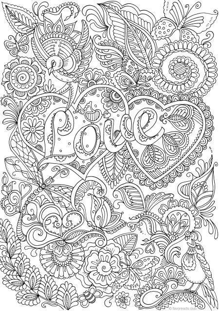 Love In Details Printable Adult Coloring Page From Favoreads Coloring Book Pages For Adults Coloring Sheets Coloring Designs Love Coloring Pages Adult Coloring Book Pages Coloring Pages