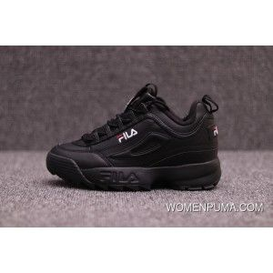Fila Disruptor 2 Ii All Black In Womens And Mens Size New
