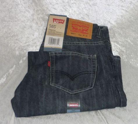 Details about Levi's 505 Boys Jeans Straight Leg Regular Fit